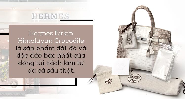 Cận cảnh chiếc túi Birkin 'Cá sấu trắng' tại Việt Nam từ Phương Lê: 'Tuyệt đẹp nhưng… hơi hôi'
