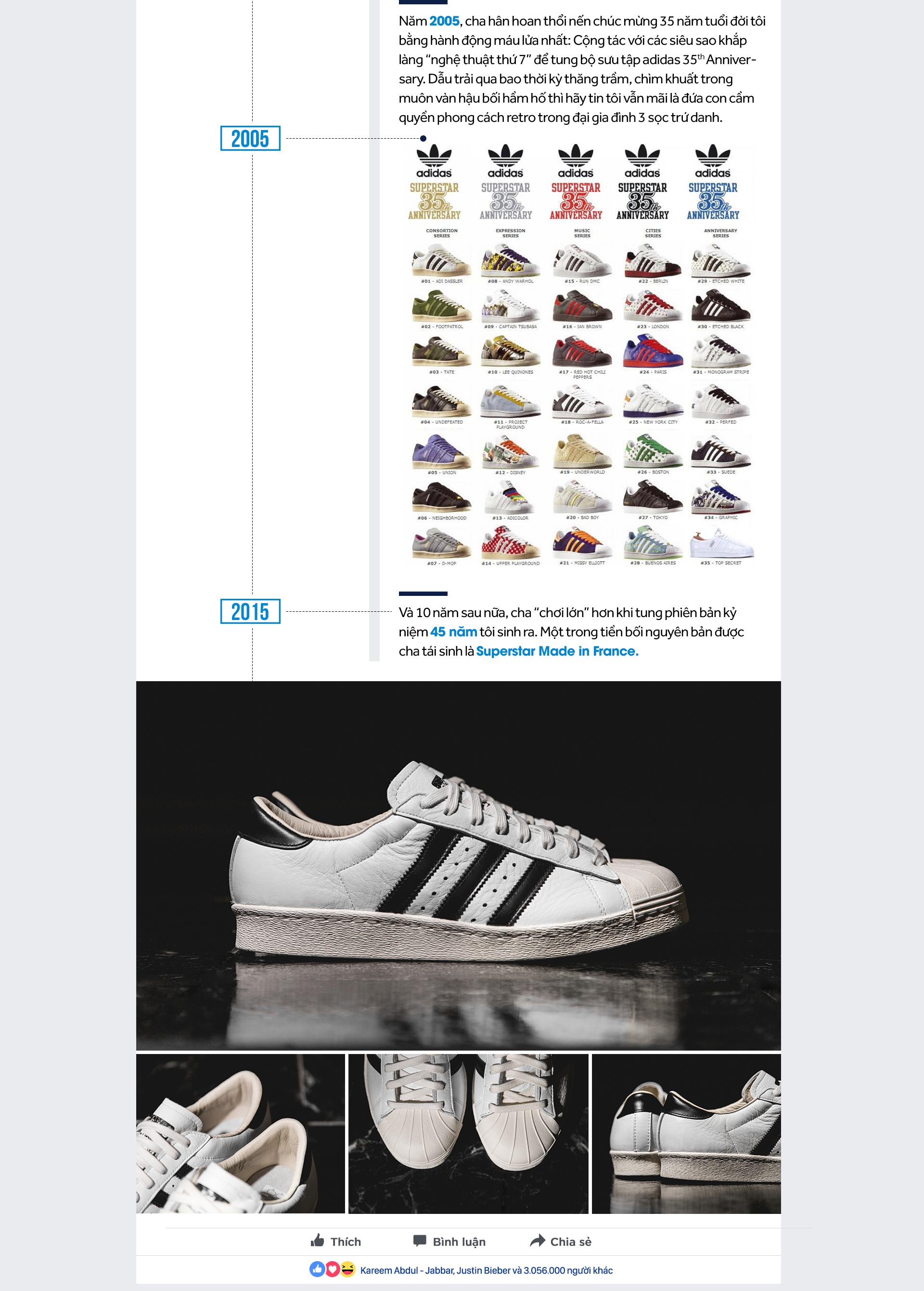 Hãy mãi nhắc về tôi, biểu tượng 'vỏ sò' cho một tuyên ngôn vĩnh cửu nhà adidas!