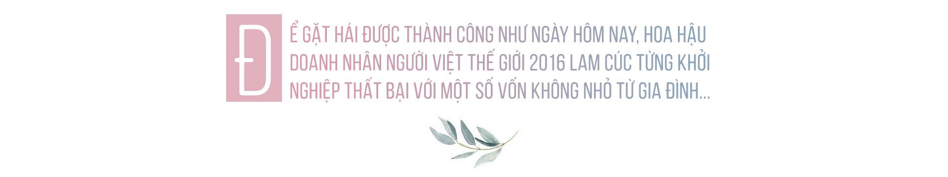 Hoa hậu Lam Cúc: 'Thành công nhỏ nhưng được tạo dựng bởi những giá trị lớn!'