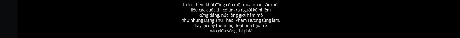 Vương miện hoa hậu Việt - giá trị thật ở đâu?