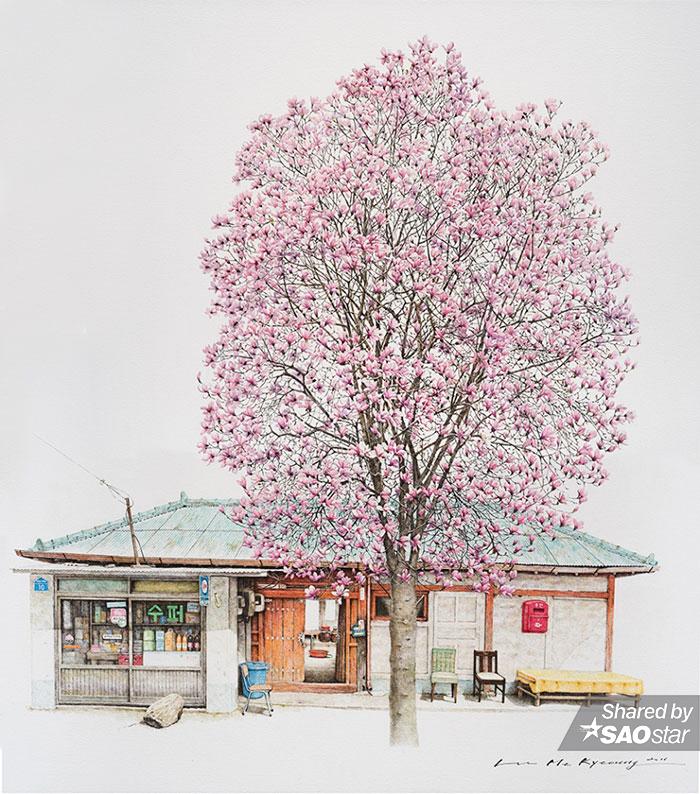 Bộ tranh đáng kinh ngạc của nữ hoạ sĩ dành 20 năm đi khắp Hàn Quốc để… vẽ lại các tiệm tạp hoá