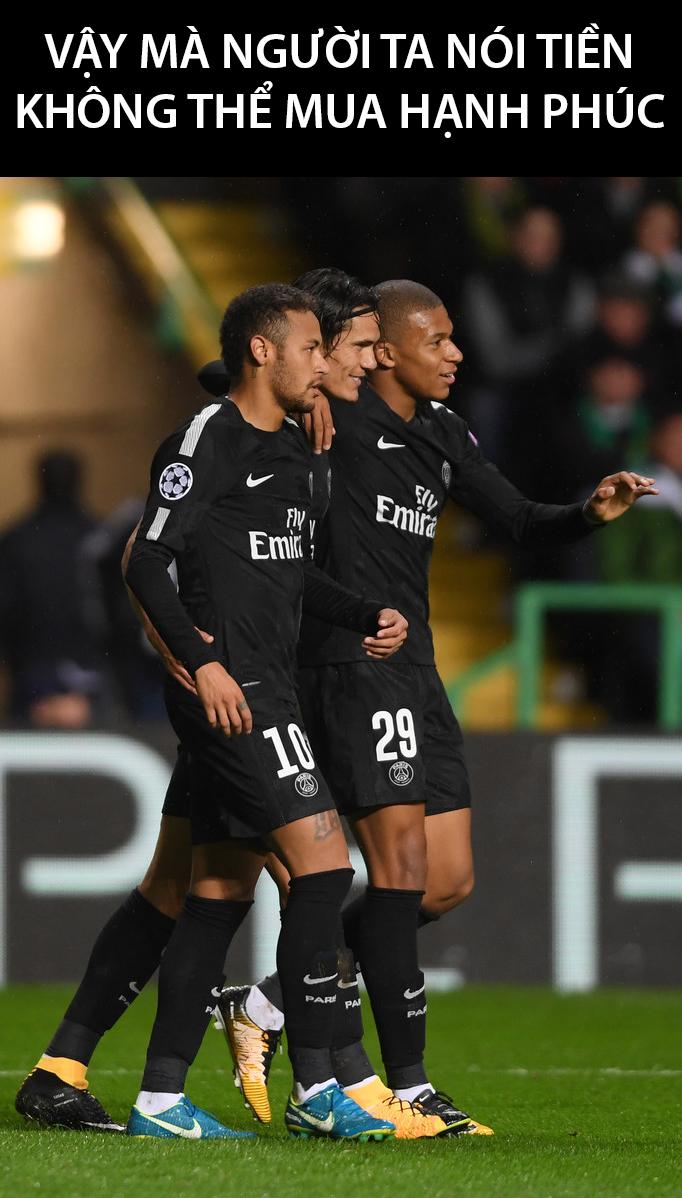Sự có mặt của 2 bom tấn Mbappe và Neymar giúp hàng công PSG nâng lên