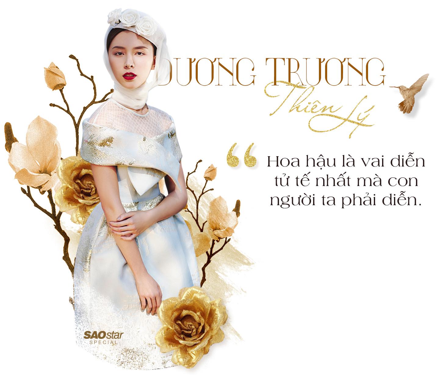 Dương Trương Thiên Lý: 'Hoa hậu là vai diễn tử tế nhất mà con người ta phải diễn'