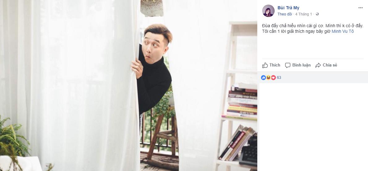 Trà My đăng tải một bức ảnh khá hài hước của Yanbi.