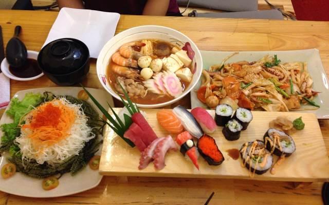 Miếng sushi bày bán tại siêu thị Big C.