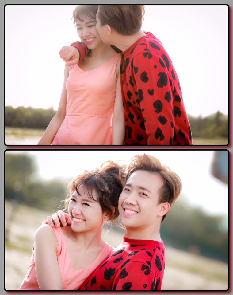 """Kết hôn vào cuối năm 2016, Trấn Thành - Hari Won cũng là một trong những cặp đôi luôn thu hút sự quan tâm chú ý từ công chúng. Sau khi kết hôn, dù lịch trình bận rộn, hai vợ chồng vẫn cố gắng dành thời gian du lịch cùng nhau khi rảnh rỗi. Trong ảnh, cặp đôi không ngại """"khóa môi"""" trong chuyến đi hồi tháng 4/2017."""
