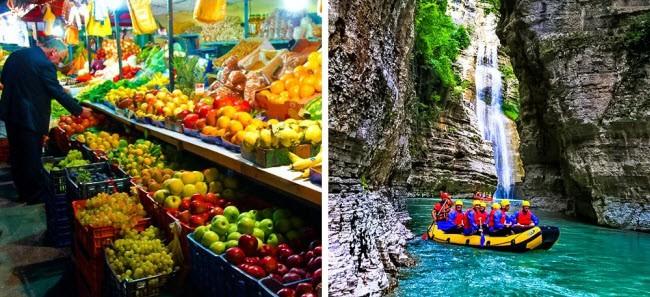 Du khách có thể dễ dàng tìm được phòng nghỉ tiện nghi với giá từ 5-10 euro/đêm tại Albania. Các món ăn đường phố ở đây chỉ tốn của bạn từ 1,8 euro, trong khi một bữa ăn tại nhà hàng thường tốn khoảng 3,5 euro.