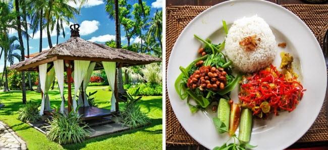 Tại Bali, du khách có thể thuê phòng nghỉ với giá khoảng 3-12 euro/đêm. Trong khi đó, ẩm thực ở đây rất đa dạng với các món Trung Quốc, châu Âu và Ấn Độ. Bữa sáng có giá 1,3-5 euro/suất, trong khi bữa trưa dành cho 2 người tốn khoảng 4-8 euro.