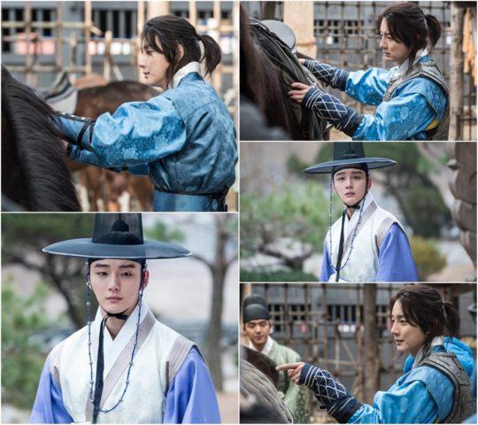 <strong>Yoon Si Yoon</strong> trên phim trường.