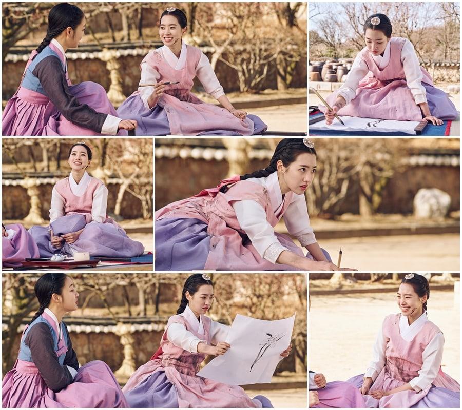 <strong>Jin Se-Yeon</strong> trên phim trường.