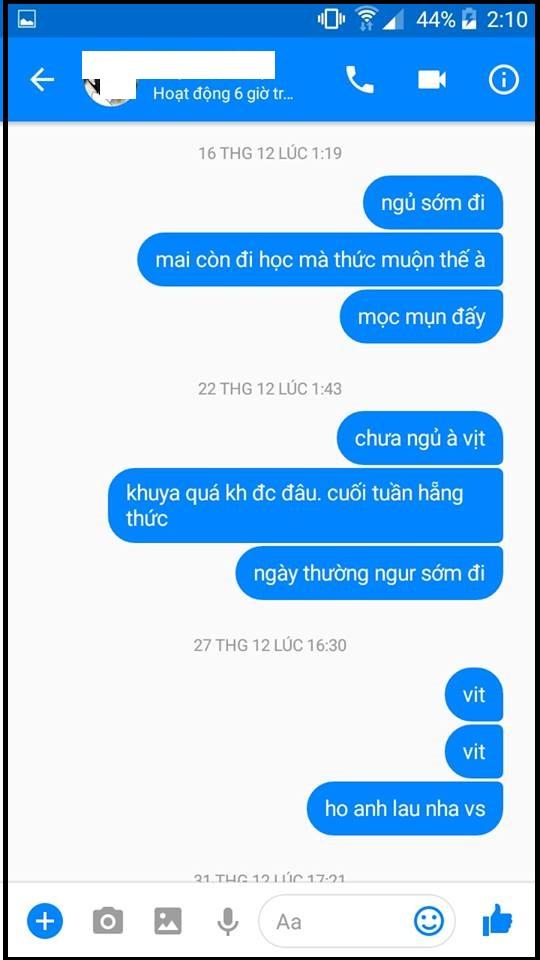 """Dinh Phong Luong: """"Đây là em mình. Không bao giờ chịu rep. Chỉ seen hoặc like""""."""