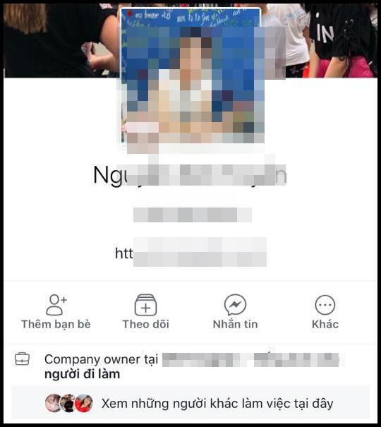 Cô giáo hiện đã khoá Facebook