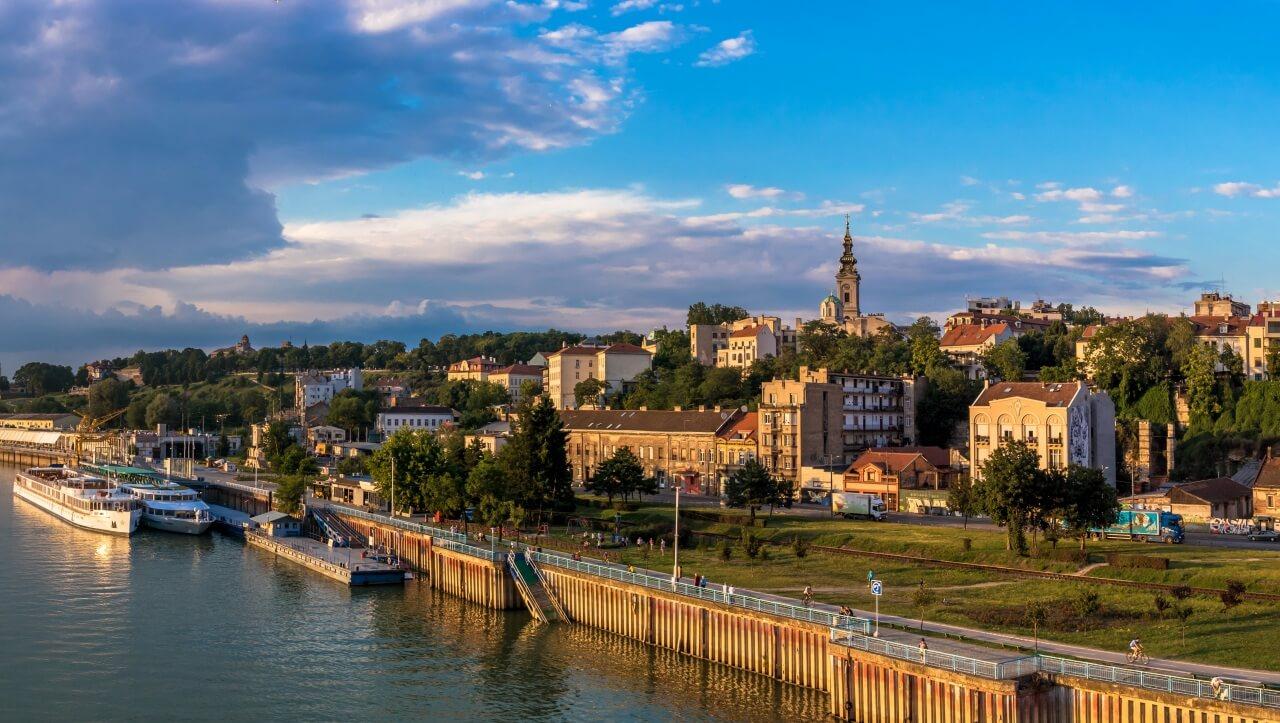Belgrade, thành phố nơi Vulović sinh sống.