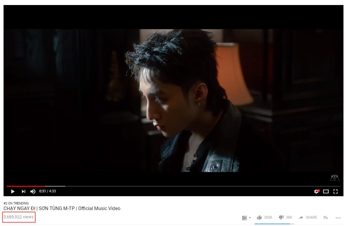 Và nhanh chóng leo lên #2 Youtube Việt Nam với gần 6 triệu view.