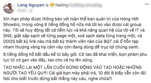 Rocker Nguyễn  Hãy thức tỉnh trước khi tự tay kết liễu sự nghiệp chính mình!