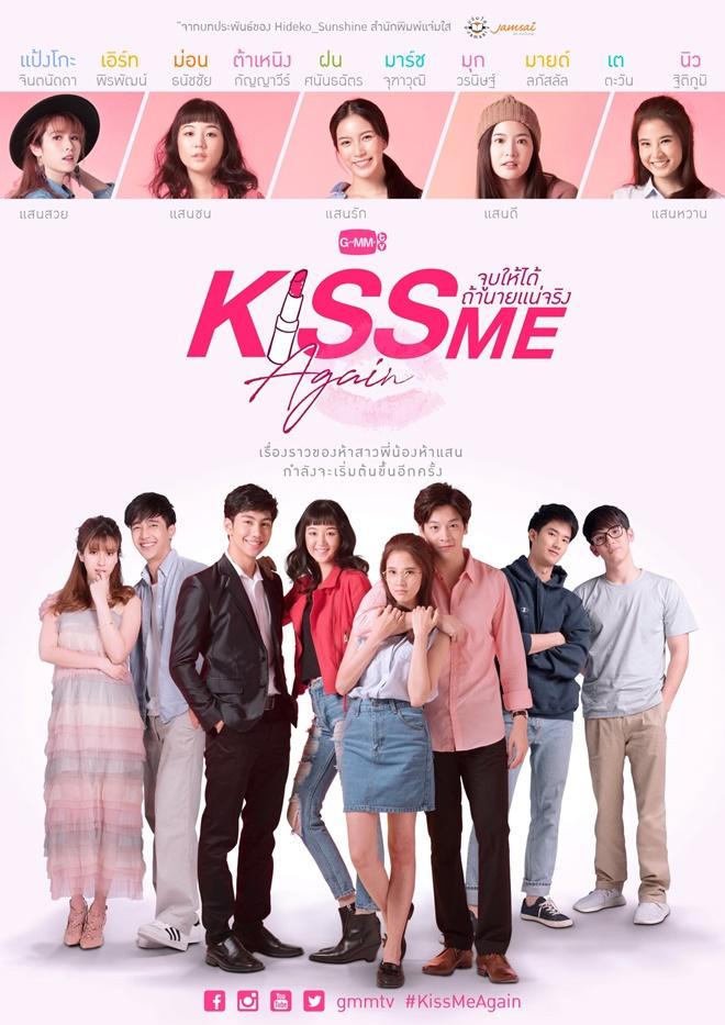 """""""Kiss Me Again"""" là phim học đường Thái Lan hot nhất tháng năm."""