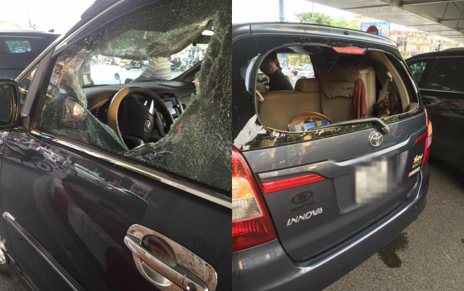 Chiếc xe bị hư hỏng nặng
