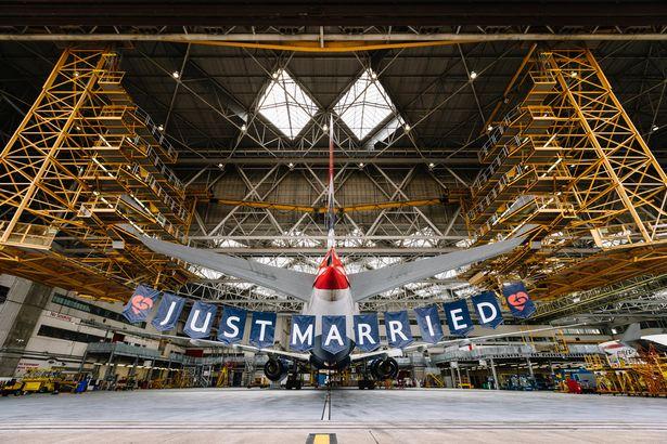 Hãng hàng khôngBritish Airways quyết định tổ chức một chuyến bay đặc biệt nhân ngày trọng đại. Ảnh:British Airways