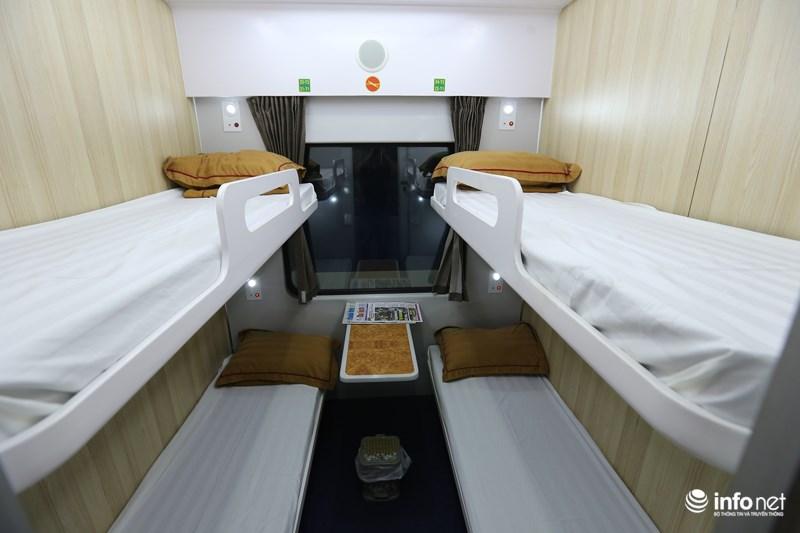 Những toa tàu đóng mới này phục vụ tối đa 28 hành khách chia đều 4 giường/buồng.