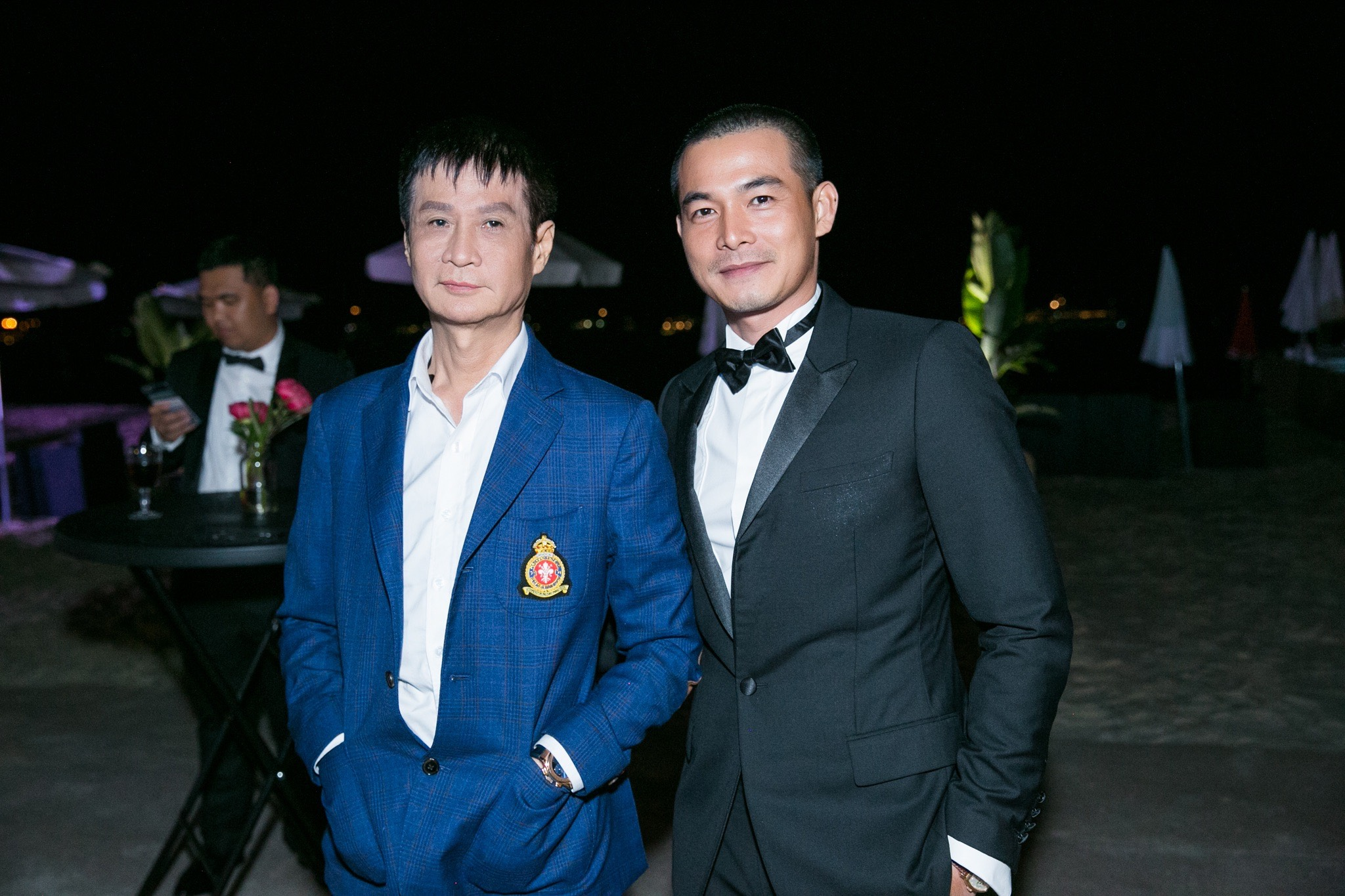 Đạo diễn Lê Hoàng và Quách Ngọc Ngoan.