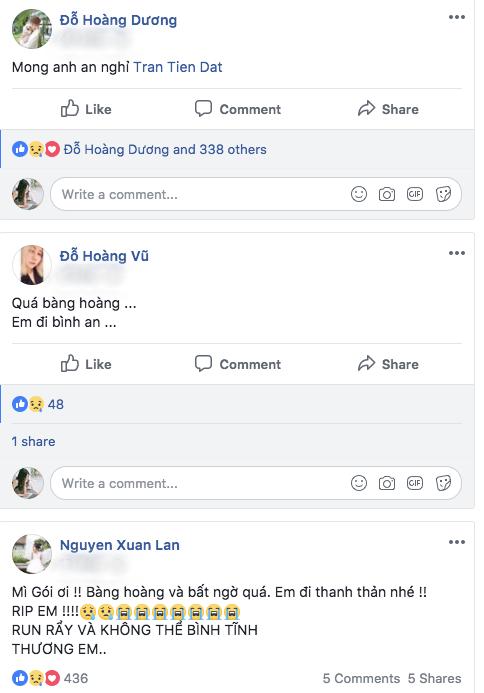 Đỗ Hoàng Dương The Voice Kids, quản lý của Hari Won và siêu mẫu Xuân Lan chia buồn cùng gia đình Mì Gói.