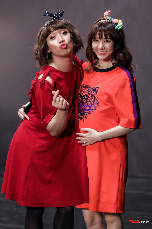 Hai thành viên của gia đình Việt Hàn xinh xắn cả đôi trong tạo hình bà bầu.