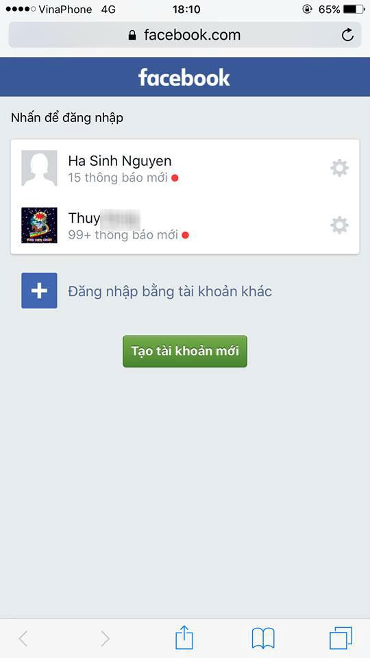 Bằng chứng facebook mới của Thùy Dung đăng tải để chứng minh bị hack tài khoản.