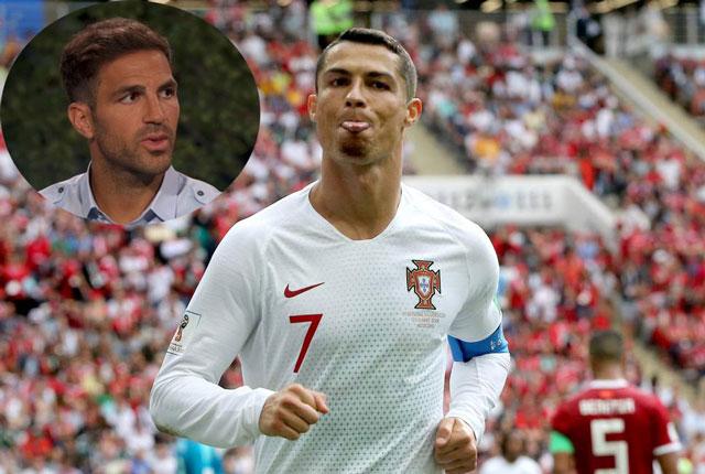 Image result for Fabregas Ronaldo