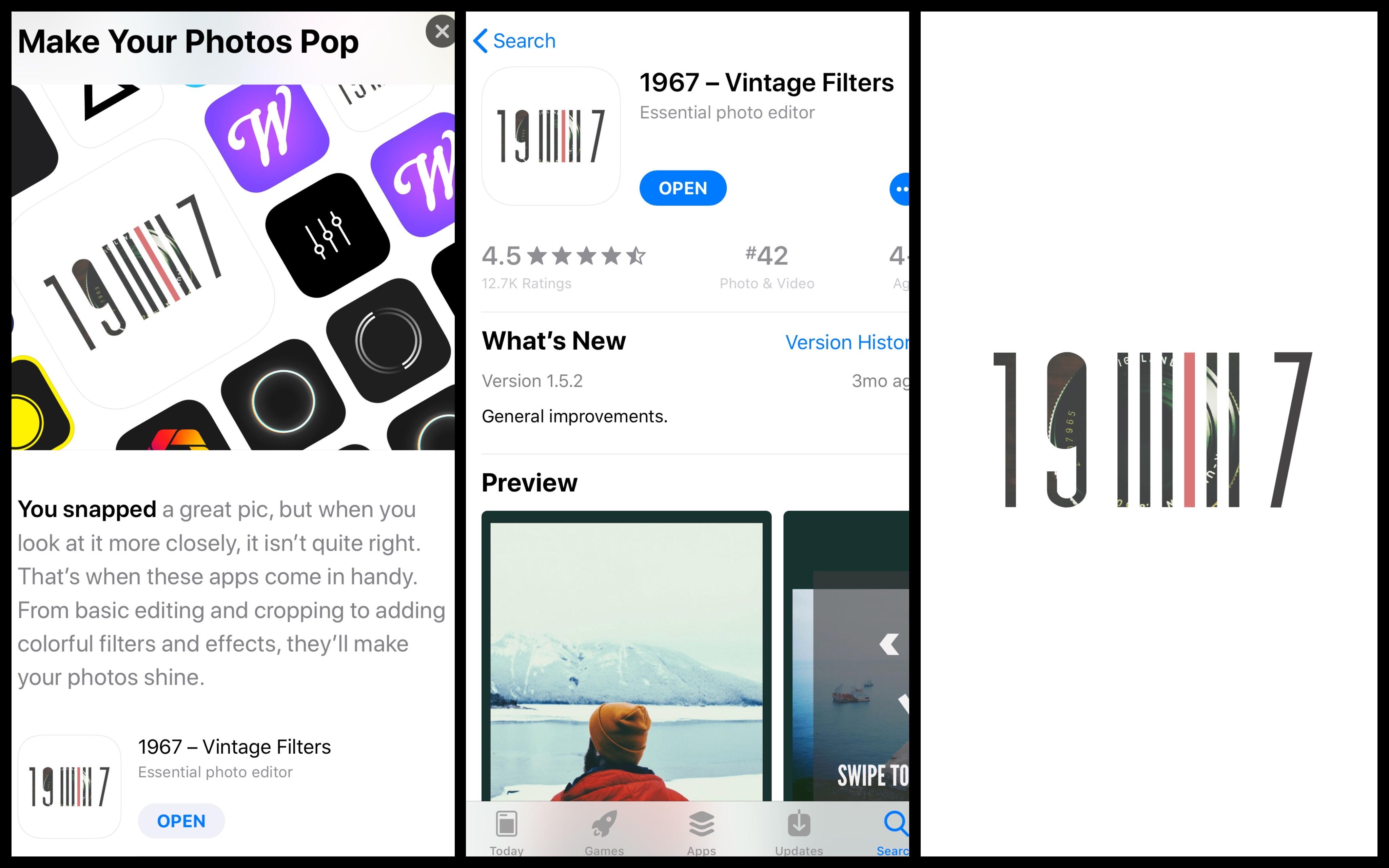 1967 - Vintage Filters là ứng dụng hoàn toàn miễn phí có trên nền tảng iOS