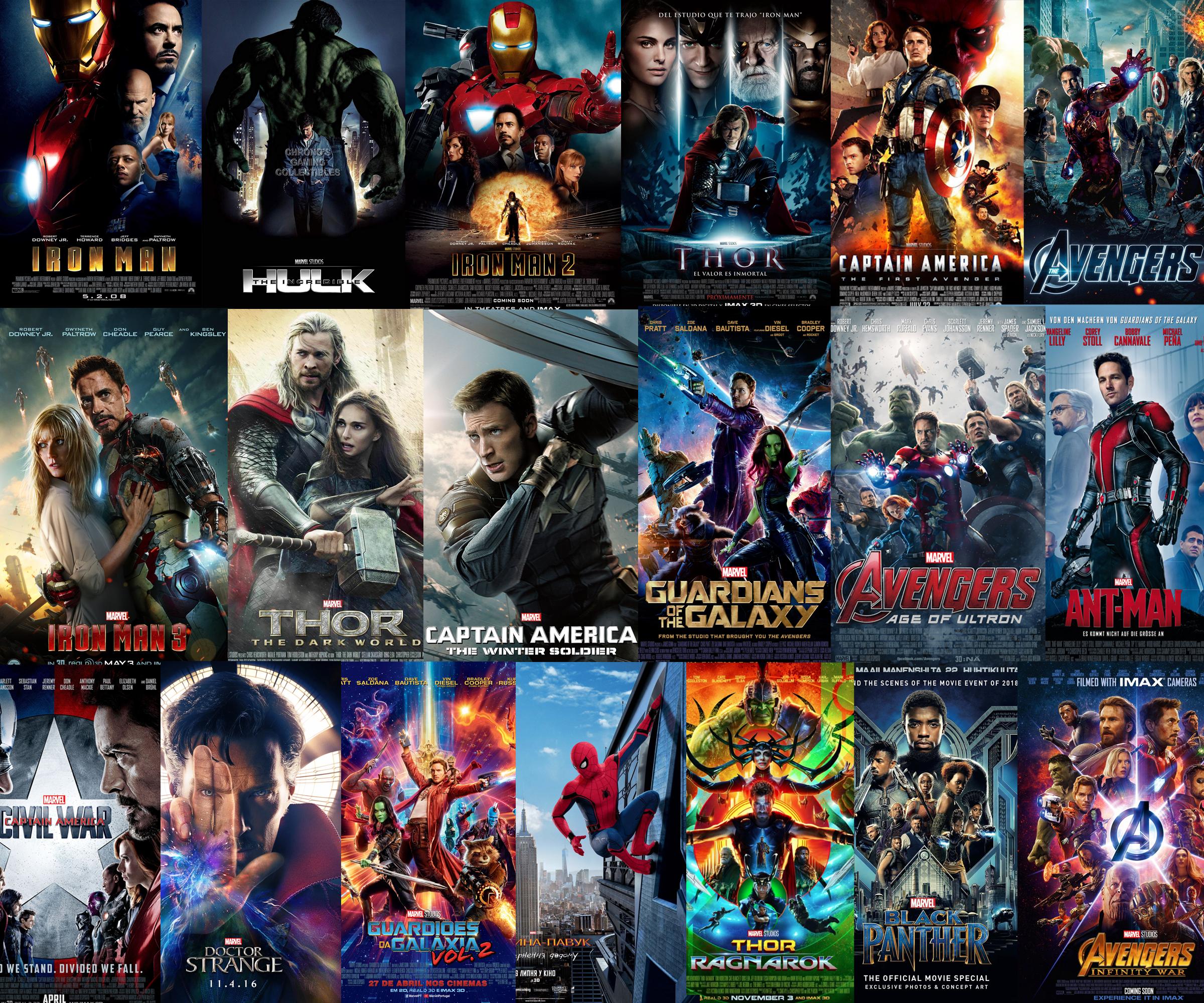 Marvel hiện đã cho ra mắt tới 19 phim siêu anh hùng và trong số đó