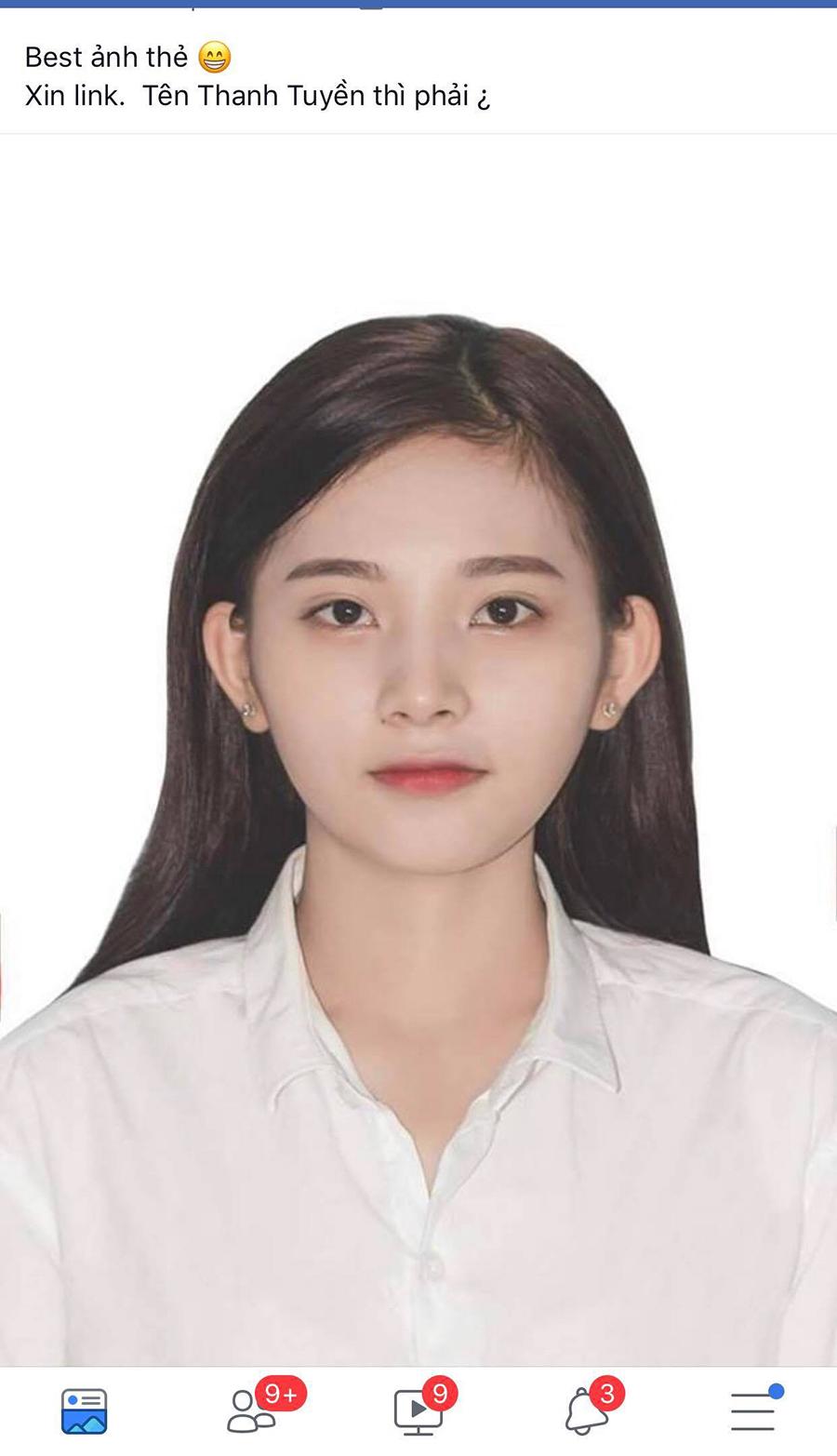 Khi bức ảnh thẻ vô tình được chia sẻ, Nguyễn Thị Minh Tuyền (năm