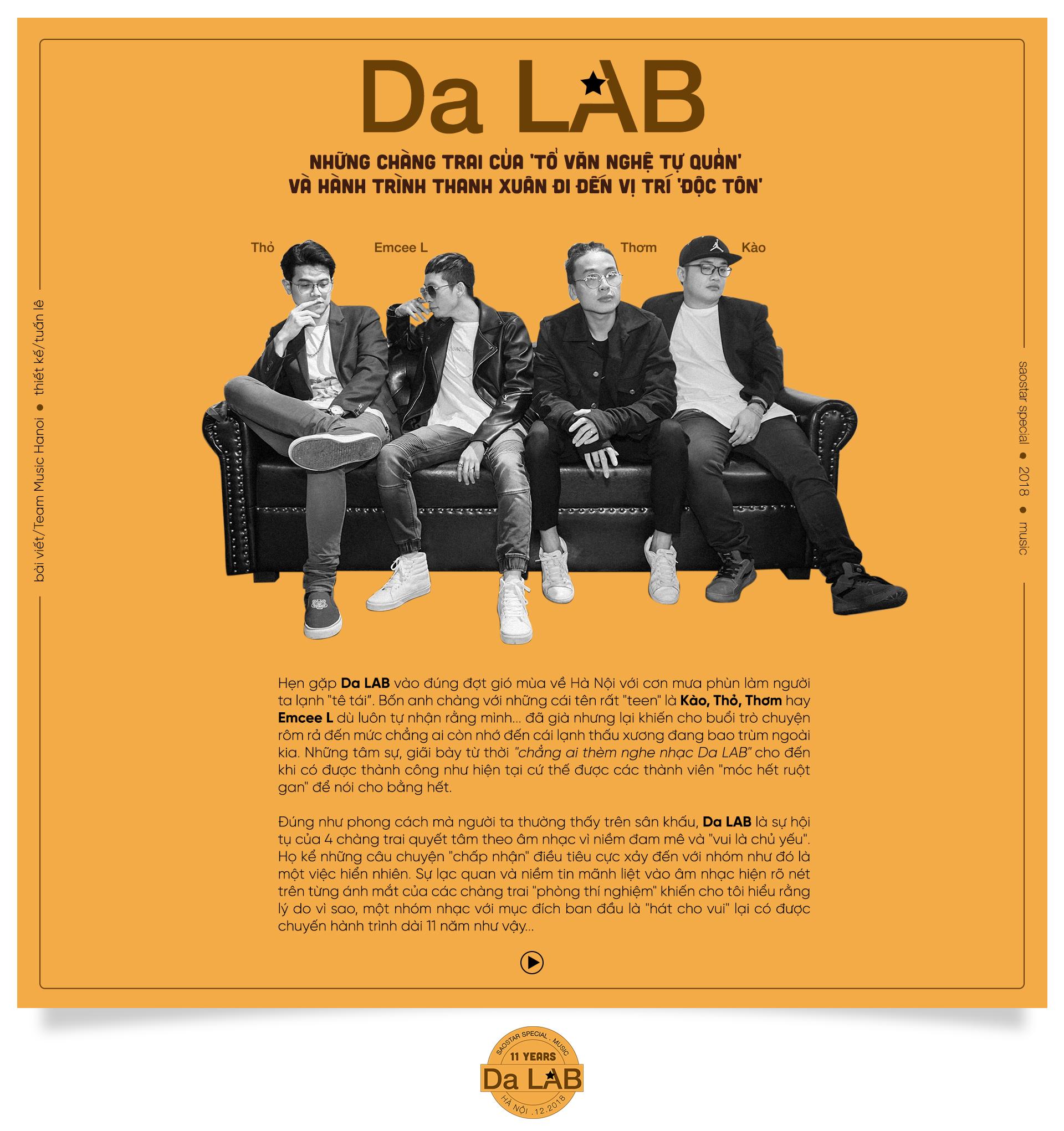 Da LAB: 'Tổ văn nghệ tự quản' và hành trình thanh xuân nhắm thẳng vị trí độc tôn