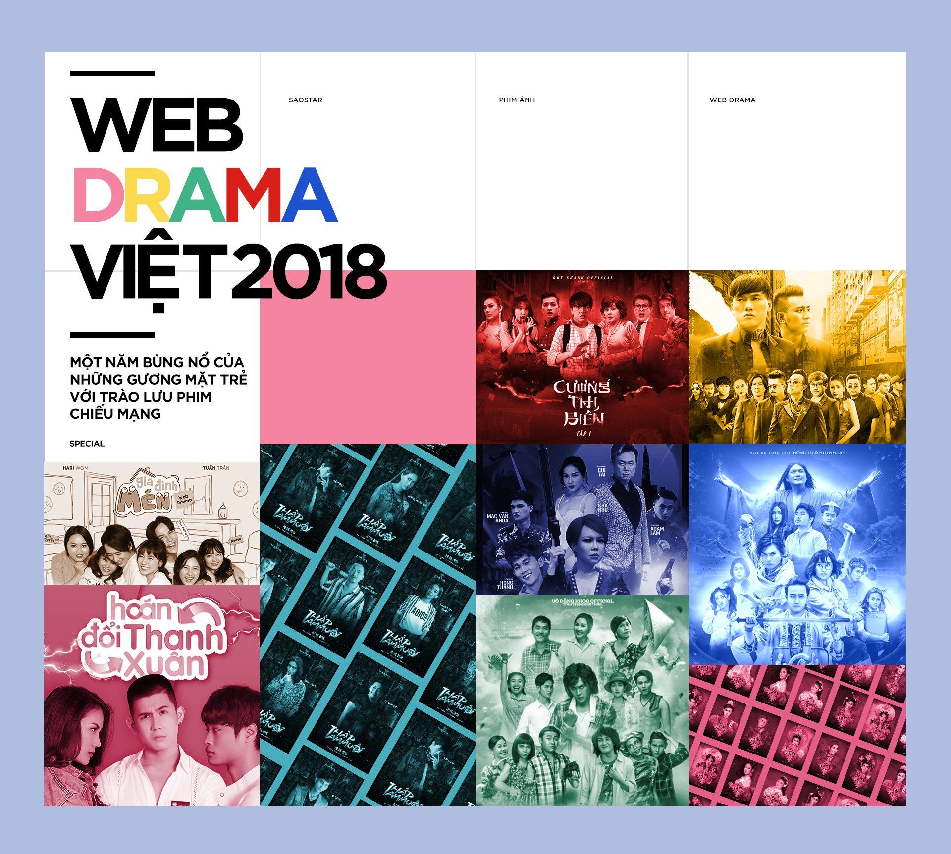 Web-drama Việt 2018: Một năm bùng nổ của những gương mặt trẻ với trào lưu phim chiếu mạng