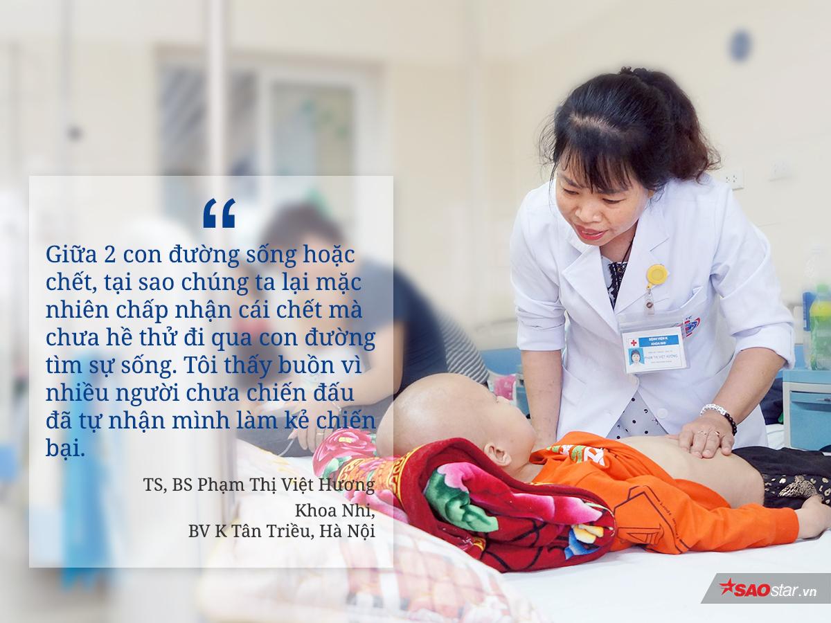 Bác sĩ Phạm Thị Việt Hương 22 năm gắn bó với bệnh nhi ung thư: 'Cái chết không do con người tạo ra nhưng sự sống thì có thể'