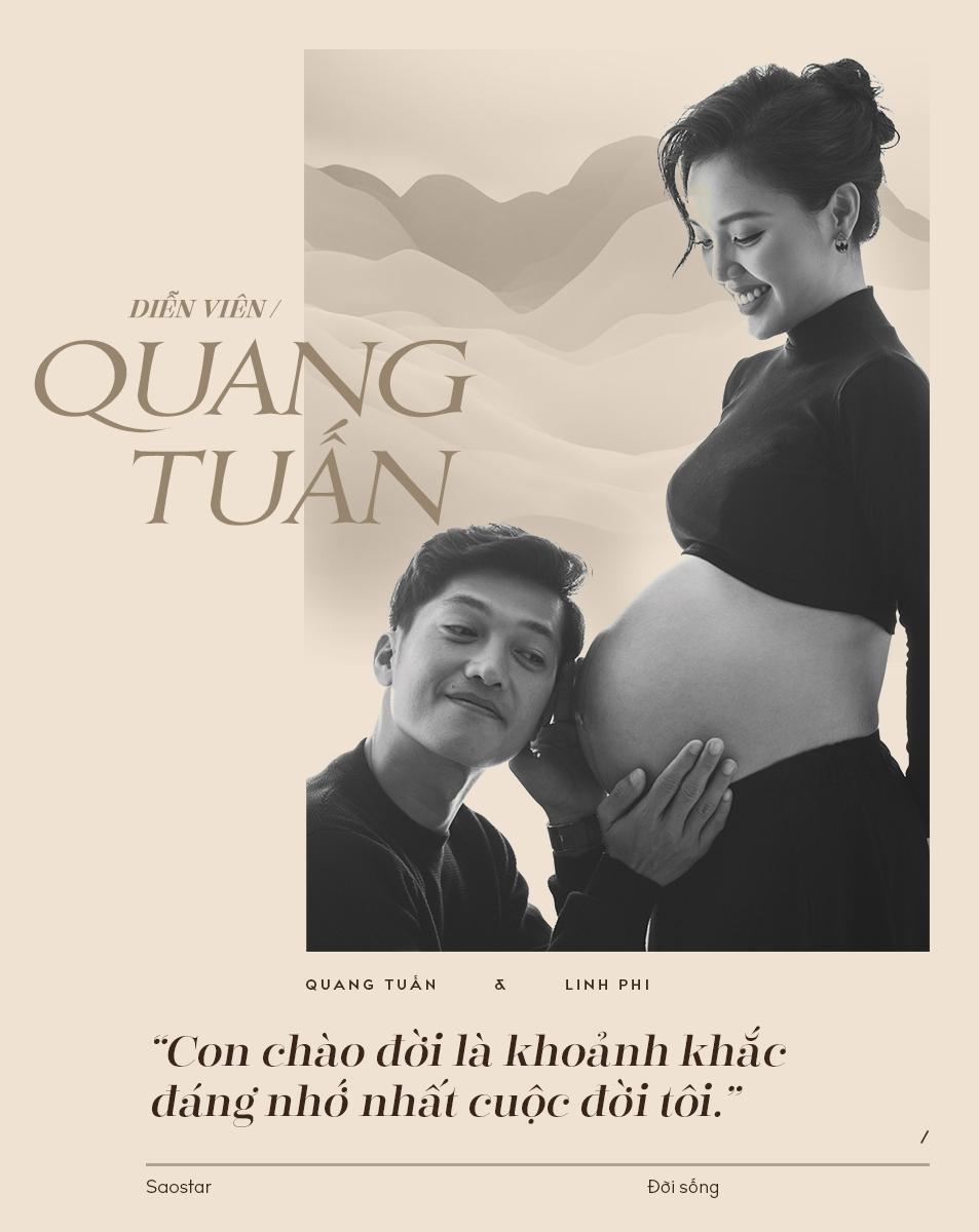 Diễn viên Quang Tuấn kể chuyện làm cha giữa mùa dịch: 'Vợ sinh con nhưng tôi không dám báo cho bạn bè'