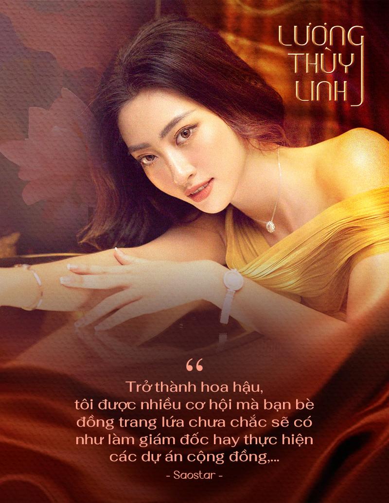 Lương Thùy Linh: 'Đôi lúc mệt mỏi vì gò mình theo chuẩn hoa hậu nhưng nhờ vậy, tôi trưởng thành hơn' Ảnh 2