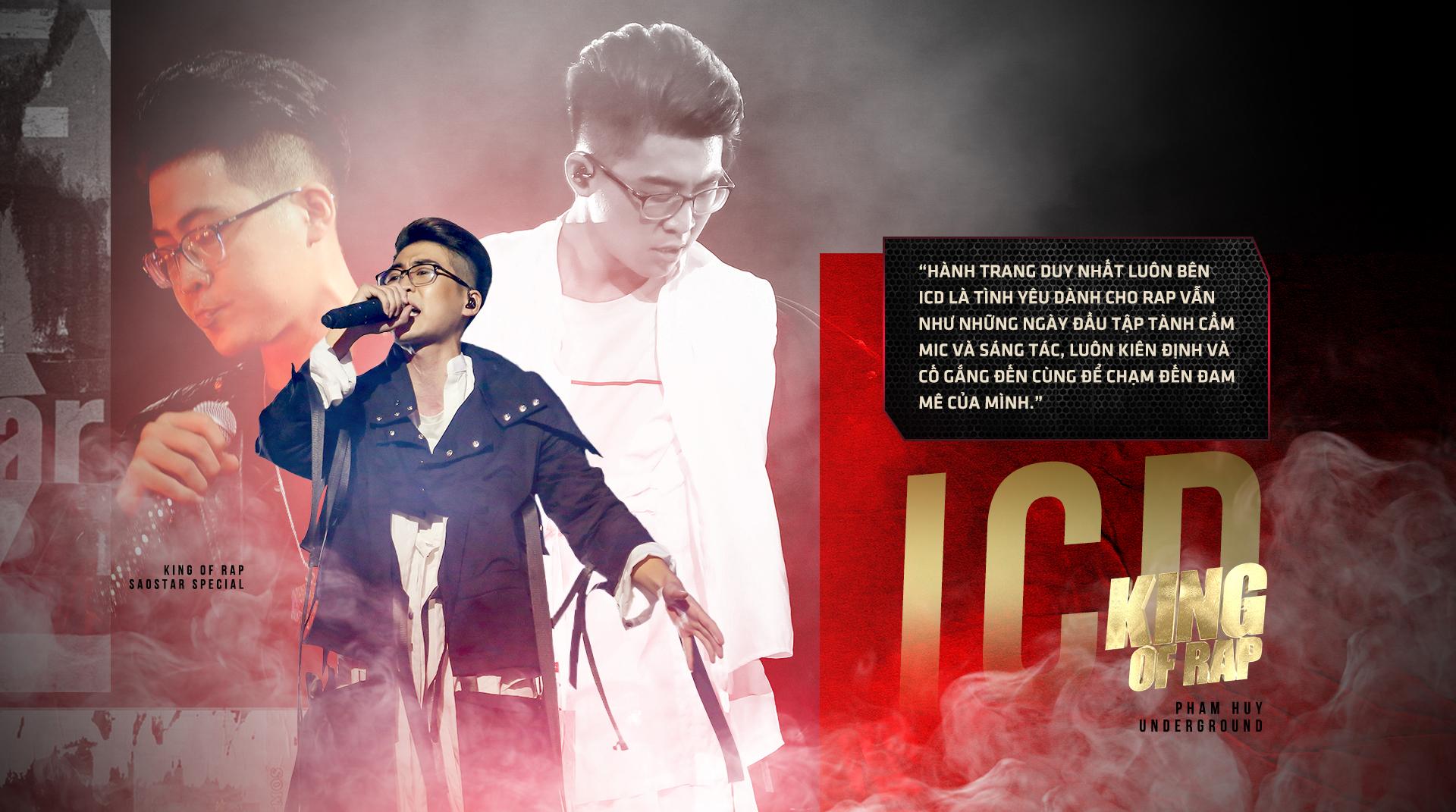 Hành trình đến ngôi vị quán quân King Of Rap của ICD: Kẻ lãng du của thế giới ngầm đã vụt sáng Ảnh 2