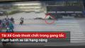 Pha thoát chết ngoạn mục của tài xế Grab dưới bánh xe tải hạng nặng