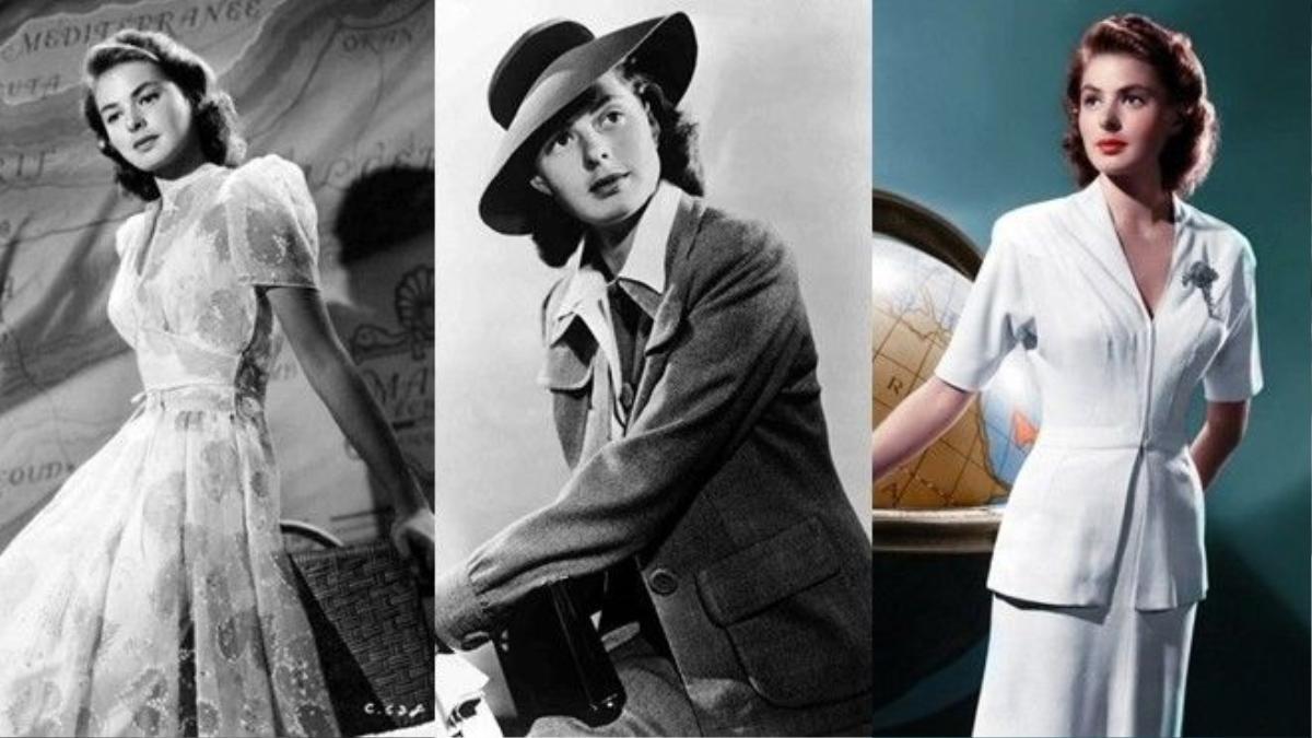 Tinh hoa thời trang thập niên 40 trong phim Casablanca