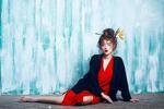 Em gái ca sĩ Phương Linh đỏ rực bí ẩn trong bộ ảnh mới