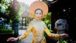 Thúy Vân mang quốc phục thêu rồng 3D thi Hoa hậu Quốc tế
