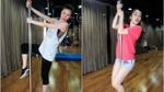 Emily - Hạnh Sino đổ mồ hôi khi tập múa cột