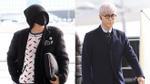 G-Dragon bịt kín mặt ở sân bay, T.O.P lộ mặt mụn