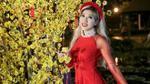Trang Pháp nữ tính bất ngờ khi diện áo dài quay MV Tết