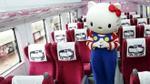 Tàu Hello Kitty vừa ra mắt, hành khách đã 'cầm nhầm' 328 chiếc khăn tựa đầu