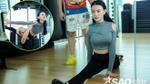 Thu Thủy vã mồ hôi trên sàn tập 'tái xuất' Bước nhảy Hoàn vũ