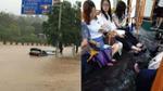 Quảng Châu 'đằm mình' trong trận lụt vì mưa bão dữ dội