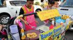 Lê la đường phố Bangkok ăn bánh pancake chuối ngon nhất Thái Lan