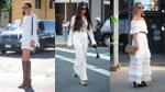 Cách mix màu trắng siêu cao thủ của các quý cô mặc đẹp nổi tiếng thế giới