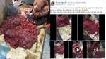 Mục sở thị quy trình làm thịt bò giả vô cùng tinh vi bằng thịt lợn sề và tiết trâu